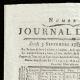 DÉTAILS  01 | Révolution Française - Journal de Paris - Jeudi 3 Septembre 1789 | Portrait de Louis Marie Marc Antoine de Noailles (1756-1804)