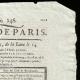 DÉTAILS  02 | Révolution Française - Journal de Paris - Jeudi 3 Septembre 1789 | Portrait de Louis Marie Marc Antoine de Noailles (1756-1804)