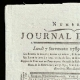 DETAILS  01   French Revolution - Journal de Paris - Monday, September 7, 1789   National Motto of France - Equality