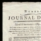 DETAILS  01   French Revolution - Journal de Paris - Tuesday, September 8, 1789   National Motto of France - Liberty