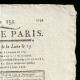 DETAILS  02   French Revolution - Journal de Paris - Tuesday, September 8, 1789   National Motto of France - Liberty