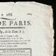 DETAILS  02   French Revolution - Journal de Paris - Wednesday, September 23, 1789   Portrait of Bonaparte (Jacques-Louis David)