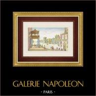 Vue d'optique de la Place Grande à Naples (Italie)