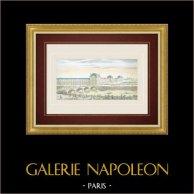 Guckkastenbild von Palais des Tuileriesund Pont Royal in Paris (Frankreich)