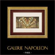 Guckkastenbild von Kathedrale Notre-Dame de Paris (Frankreich) | Guckkastenbild aus dem frühen 19. Jahrhundert. Altkolorierte Original-ätzradierung mit alten Aquarellfärbung aus der Zeit. Herausgegeben von Basset in Paris um 1830