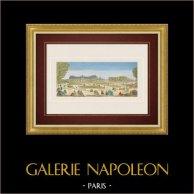 Vista óptica del Palacio del Luxemburgo en Paris (Francia)