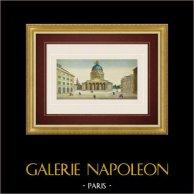 Vue d'optique du Panthéon - Paris (France)