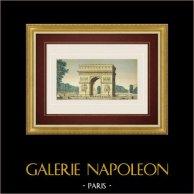 Vue d'optique de l'Arc de triomphe de l'Étoile - Paris (France)