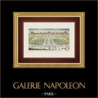 Vista óptica del Jardín de las Tullerías - Palacio del Louvre - Paris (Francia)