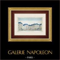 Vue d'optique du Palais-Royal à Paris (France)