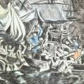 DETAILS 05   Optical view of turkish-venetian naval battle in 1749 (Italy)