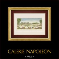 Vista óptica del Palacio del Luxemburgo - Jardín del Luxemburgo en Paris (Francia)