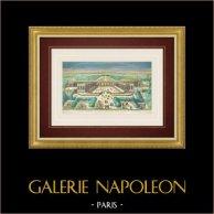 Vista óptica del Grand Trianon en el Parque del Palacio de Versalles (Francia)