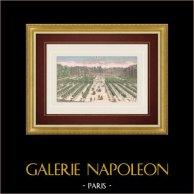 Vista óptica del Palacio Real en Paris (Francia)