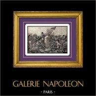 Slag van Waterloo in 1815 - Napoleon Bonaparte - Napoleontische Oorlogen