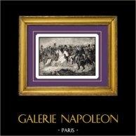 Napoleon met zijn generaals