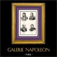 Napoleon - maarschalk van het Rijk - Joachim Murat - Michel Ney - Louis Nicolas Davout - Nicolas Jean-de-Dieu Soult