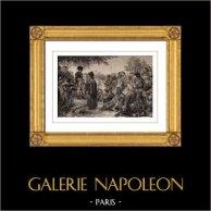 Napoleonkrigen - Egypten - Kairo - Egyptierna frågar Förlåtelse från Kejsaren Napoleon | Original etsning efter teckningar av Marchais & Pigeot efter Pierre-Narcisse Guérin, graverade av Le Rouge. 1810