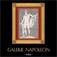 Apollo of the Belvedere also called the Pythian Apollo - Italian Sculpture - Roman Mythology