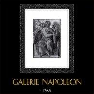 Cappella Sistina - Antico Testamento - Isaia (Michelangelo) | Incisione heliogravure originale su carta Helio Rex. Anonima. 1930