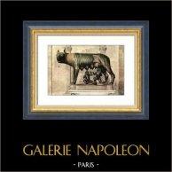 Italian Sculpture - Ancient Rome - Capitoline Wolf - Romulus - Remus