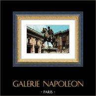 View of Rome - Italy - Equestrian Statue of Marcus Aurelius