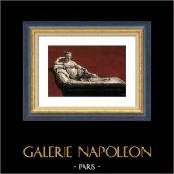 Escultura Italiana - Bonaparte Borghese : Hermana de Napoleón - Venus - Venere Vincitrice (Antonio Canova) | Original heliocromía. Anónimo. 1960