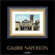 Vue de Rome - Italie - Eglise - La Basilique de Sainte Cécile en Trastevère