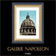 Vue de Rome - Italie - Coupole de la Basilique Saint Pierre - Cité du Vatican
