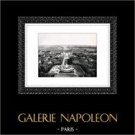 Schloss Versailles - Château de Versailles - Ansicht vom Flugzeug aus   Original heliogravüre. Auszug der Sammlung Versailles et les Trianons. 1920