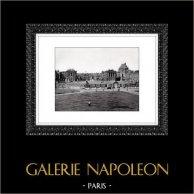 Palazzo di Versailles - Château de Versailles - Facciata | Incisione heliogravure originale. Estratto della Collezione Versailles et les Trianons. 1920