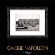 Château de Versailles - Facçade Coté Terrasse | Héliogravure originale. Extrait de la collection Versailles et les Trianons. 1920