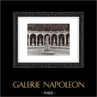 Château de Versailles - Jardin - La Colonnade - L'Enlèvement de Proserpine | Héliogravure originale. Extrait de la collection Versailles et les Trianons. 1920