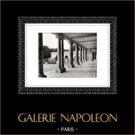 Château de Versailles - Le Péristyle - Grand Trianon - Trianon de Marbre | Héliogravure originale. Extrait de la collection Versailles et les Trianons. 1920