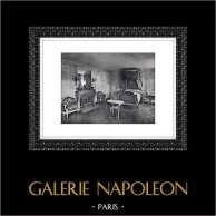 Palace of Versailles - Château de Versailles - Petit Trianon - Marie-Antoinette's Bed Room | Original heliogravure. Extract of the Collection Versailles et les Trianons. 1920