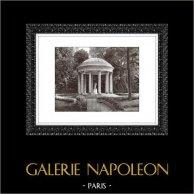 Château de Versailles - Temple de l'Amour - Petit Trianon | Héliogravure originale. Extrait de la collection Versailles et les Trianons. 1920