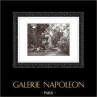Château de Versailles - Hameau de la Reine - Le Moulin - Petit Trianon | Héliogravure originale. Extrait de la collection Versailles et les Trianons. 1920