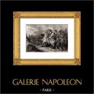Bataille de la Marfée - Mort du comte de Soissons (6 Juillet 1641) | Gravure sur acier originale dessinée par Emy, gravée par Rebel. 1850
