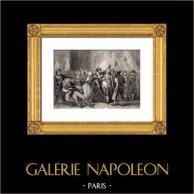 Révolution française - Le Peuple aux Tuileries (20 Juin 1792) - Louis XVI - Bonnet Phrygien | Gravure sur acier originale dessinée par Henri Emy, gravée par Lechard. 1850