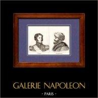 Maréchal d'Empire et Général de Napoléon - Cochrane - Redchid Pacha - Rachid Pacha | Gravure sur cuivre originale. Anonyme. 1820