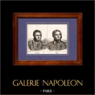 Maréchal d'Empire et Général de Napoléon - Vallongue - Damas | Gravure sur cuivre originale dessinée par Jean-Baptiste Réville. 1820