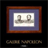 Maréchal d'Empire et Général de Napoléon - Barbanegre - Berckheim   Gravure sur cuivre originale. Anonyme. 1820