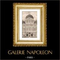 Historic Monument - Paris - Cour Carrée du Louvre built by Francois I with the architect Pierre Lescot