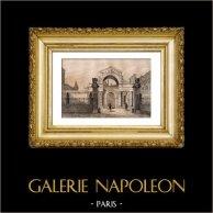 Monumentos Históricos de Francia - Palacio de Fontainebleau - Portal de Hermes