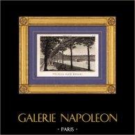 Vista di Parigi - Place Royale - Place des Vosges | Incisione su rame originale disegnata da Christophe Civeton, Couché fils direxit. 1825