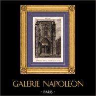Vue de Paris - Chapelle Saint Yves | Gravure sur cuivre originale dessinée par Christophe Civeton, Couché fils direxit. 1825