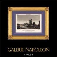 Gezicht op Parijs - Seine - Nesle's Toren - Tour de Nesle