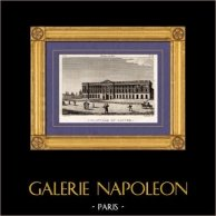 Vista di Parigi - Colonni - Louvre | Incisione su rame originale disegnata da Christophe Civeton, Couché fils direxit. 1825