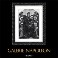 Angelo - Vergine Maria - Madonna - Maestà (Cimabue - Cenni di Pepo)   Incisione heliogravure originale secondo Cimabue. 1946