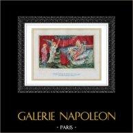 Angelo - Apocalisse - Il Fuoco del Cielo Tomba sulle Acque (Nicolas Bataille) | Tavola contrecollé secondo Nicolas Bataille. 1946